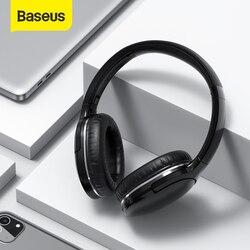 Baseus D02 Pro Draadloze Bluetooth Hoofdtelefoon Hifi Stereo Oortelefoon Opvouwbare Sport Headset Met Audio Kabel Foriphone Tablet