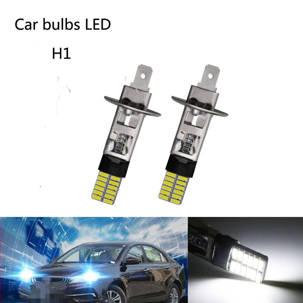 2 шт H1 24 светодиодный лампы Супер яркий H3 4014SMD Противотуманные фары дневные фары дальнего света LED дневные ходовые передвижной лампой с возмо...