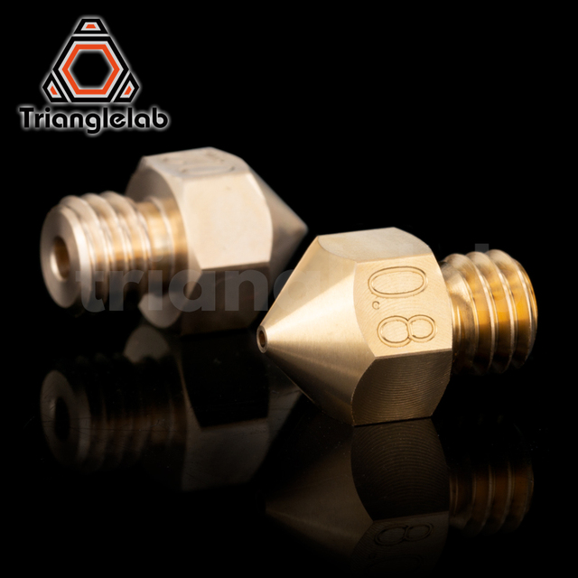 trianglelab Top quality Brass MK8 Nozzle for 3D printers hotend 1.75MM Filament  J-head cr10 heat block ender3 hotend m6 Thread 1