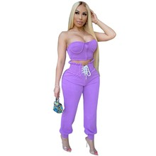 Sexy Two Piece Set Top and Pants Summer Clothes Tracksuits Women Set Lounge Club Casual 2 Piece Outfits for Women Matching Sets(China)