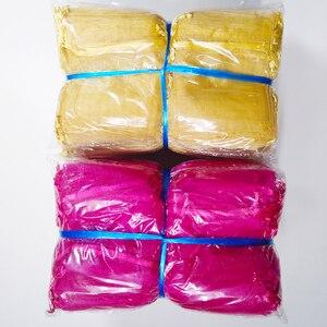 Image 4 - 1000 stks/partij 24 Kleuren Sieraden Bag 7x9 9X12 10x15 13x18cm Bruiloft gift Organza Tassen Sieraden Verpakking & Display Sieraden Pouches