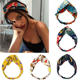 2020 New Arrival Spring Fashion Bohemian Girl Hair Bands Vintage Cross Headbands Women Hair Accessories