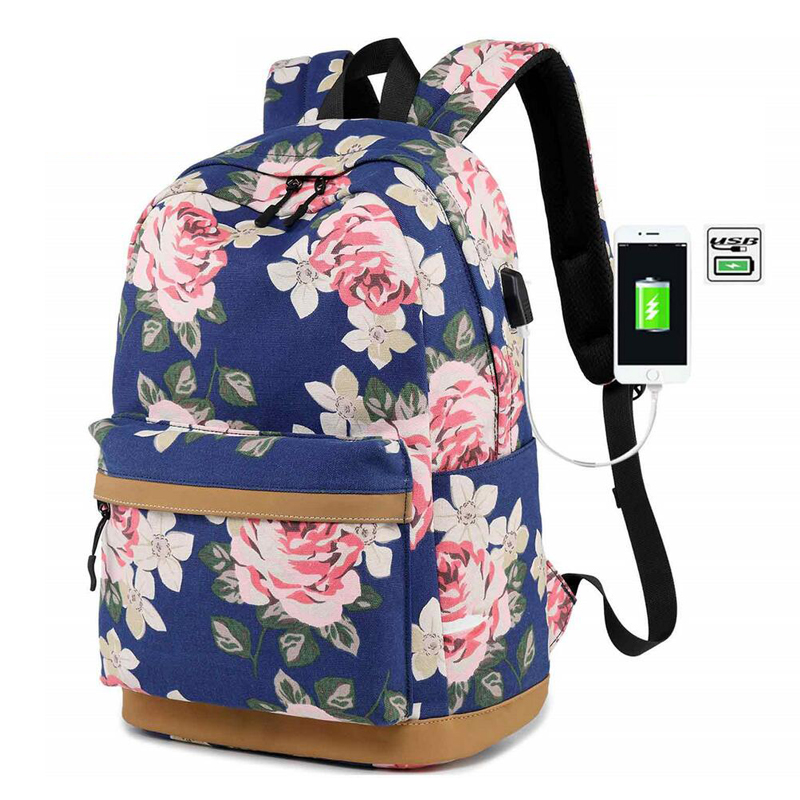 Large Capacity Anti Theft <font><b>Backpack</b></font> <font><b>USB</b></font> Charging <font><b>Port</b></font> School Bags <font><b>Backpacks</b></font> Women Waterproof Travel Bagpack <font><b>Headphone</b></font> <font><b>USB</b></font> <font><b>Port</b></font> image