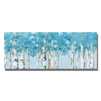 Hand Painted Abstract Tree Landscape Oil Painting on Canvas Abstract Pictures Wall Decor For Living  No Framed
