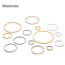 20Pcs 8-40mm Brass Round Hollow Pendants for Earring Making Resin Pendant Charms DIY Crafts Jewelry Findings Glod Color
