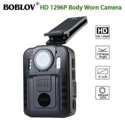 Boblov WN9 Body Worn Camera 1080P 64GB DVR Video Security Cam 170 Degree IR Night Vision Mini Camcorders
