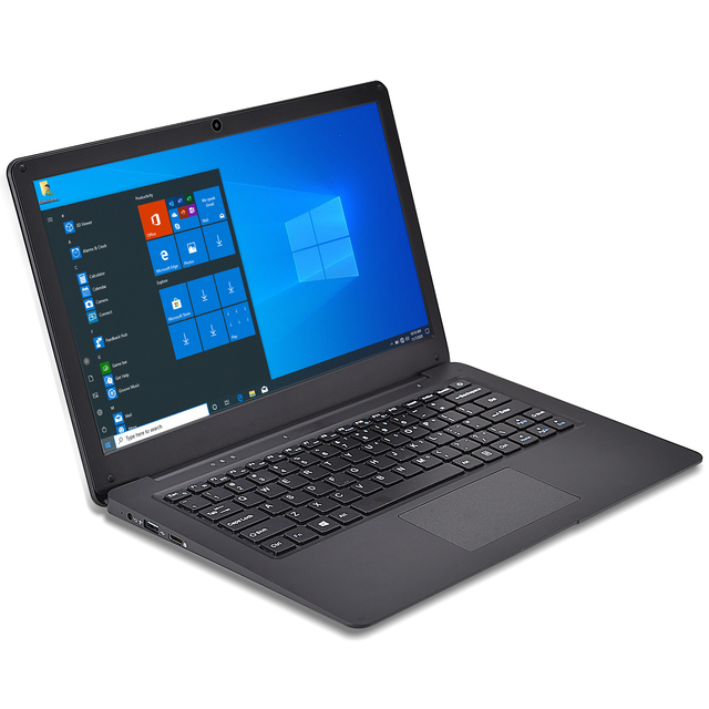 12.5 Inch N3350 Slim Small Mini Laptop 4G RAM 64G SSD Ultrabook Business Office Notebook Cool Black Netbook Portable PC Computer 1