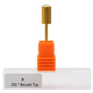 """Image 5 - Maohang 10 pçs/lote 3/32 """"carboneto de ouro broca do prego fresa para manicure elétrica pedicure máquina dispositivo ferramenta remover gel"""