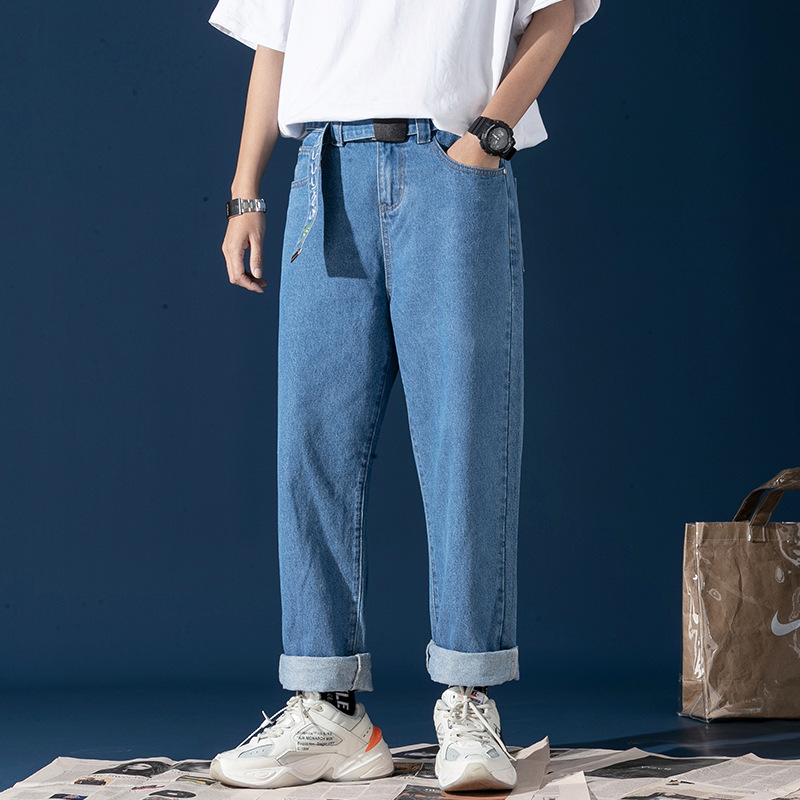 Spring And Summer Loose-Fit Vintage Jeans Workwear Popular Brand Korean-style Trend Loose Pants Straight-leg Pants
