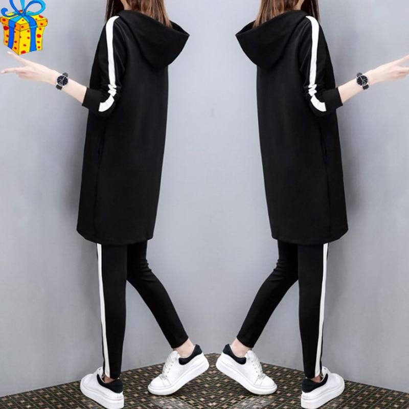 Plus Size M-4XL Jogging Femme Woman Clothes Striped Women Matching Sets Ensemble Femme 2 Pieces Top And Pants Dos Piezas Mujer