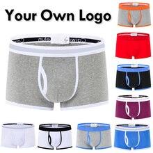 Customize your Logo Pantalones cortos hombres ropa interior transpirable suave de los boxeadores de