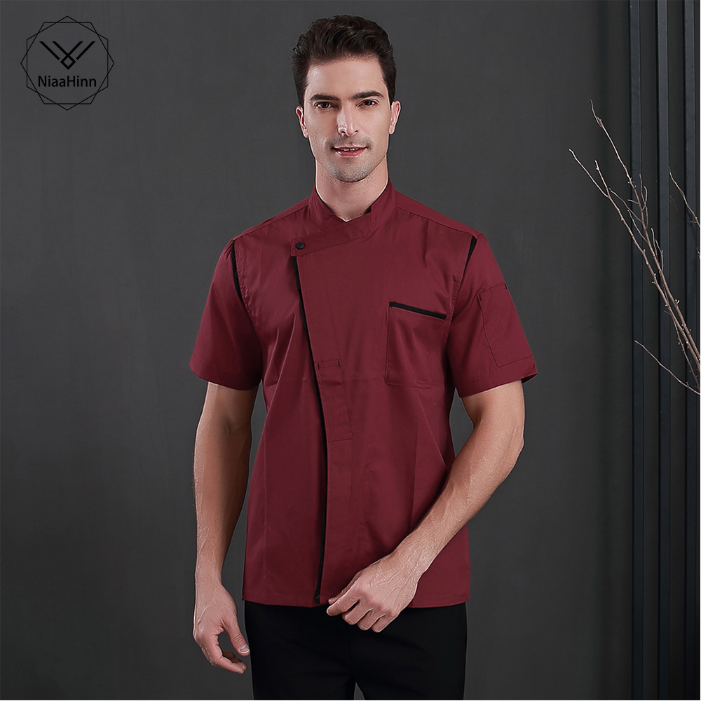 New Arrival Chef Uniforms For Men Women High Quality Short-sleeve Single-breasted Bakery Restaurant Hotel Workwear Chef Jackets