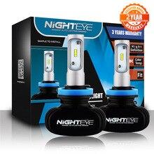 Nighteye H11 Led H7 H4 9005 9006 50 Вт 6500 лм K CSP Светодиодные Автомобильные фары комплект для преобразования противотуманных фар лампа супер яркие Автомобильные фары