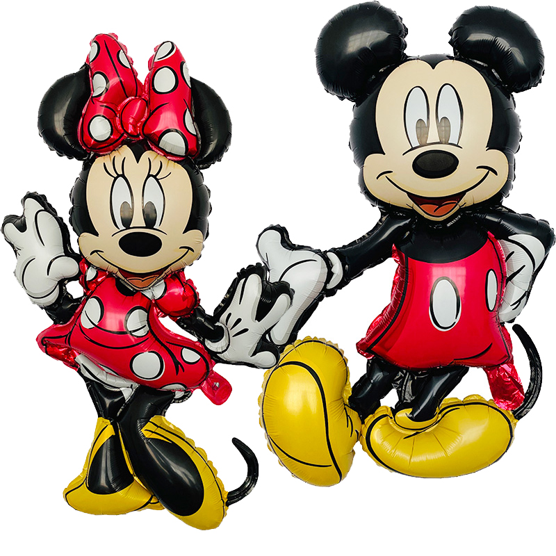 1p3D large authentic Mickey Minnie Mouse aluminum foil balloon banquet birthday wedding decoration children's toys bath ball title=