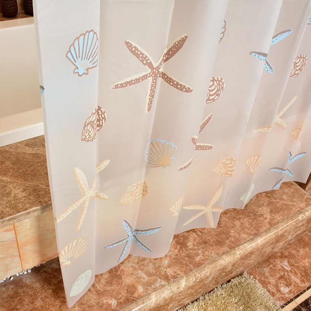Tahan Air Polyester Shower Tirai Liner Tembus Jamur PEVA Tirai untuk Kamar Mandi Shower Tirai dengan 12 Kualitas Tinggi Kait