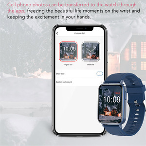 Image 4 - 2021 Thể Thao Đồng Hồ Thông Minh Nam Nữ Tùy Chỉnh Giấy Dán Tường Đồng Hồ Thông Minh Smartwatch Nhiệt Độ Cơ Thể Đo Nhịp Tim Đồng Hồ Dành Cho IOS Android