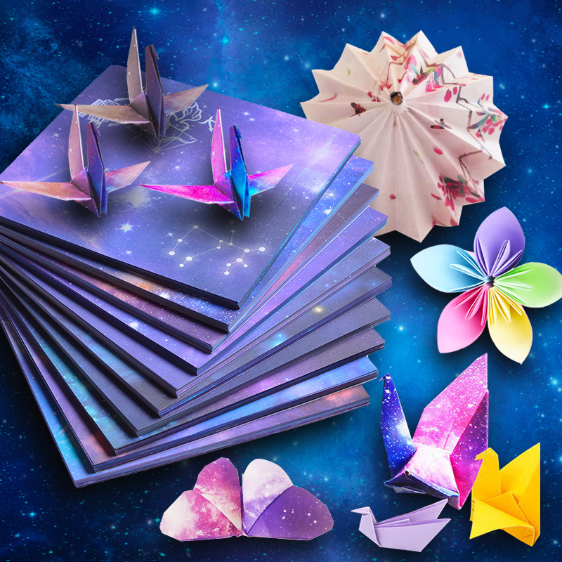 Creativity Square Origami Paper Kid DIY Handmade Double Side Coloring Fold Craft Paper Decor Art Material Educational Star Paper|Craft Paper| - AliExpress