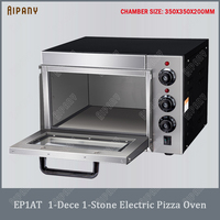 EP1AT electric pizza oven with timer single deck pizza oven with fire stone stainless steel big capacity bread cake bakery oven