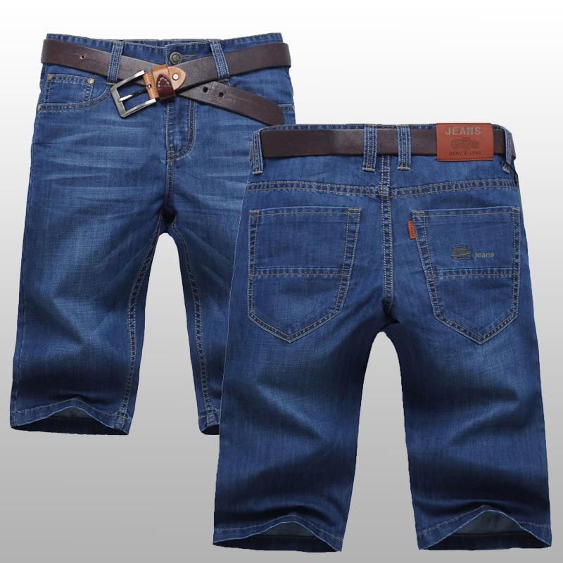 MEN'S Jeans Shorts Summer Thin Section Shorts Men's Elasticity 5 Casual Breeches Summer Broken Capri Pants Shorts