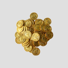 50/100pcs gold plastic pirate coins Halloween decoration fake gold coin tokens party supplies game gift Christmas home decor pirate gold coins plastic set of 100 play gold treasure coins for play favor party supplies pirate party treasure hunt