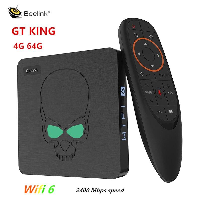 ТВ приставка Beelink GT King, Wi Fi, 6 дюймов, Amlogic S922X, Android 9,0, 4 + 64 ГБ, LAN, 1000 Мбит/с, Bluetooth 4,1, HDR, 4K|ТВ-приставки и медиаплееры|   | АлиЭкспресс