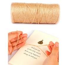 Nowy 100M naturalna juta sznurka pasek z juty liny konopne nici na wesele pakowanie prezentów DIY Scrapbooking kwiaciarnie Craft