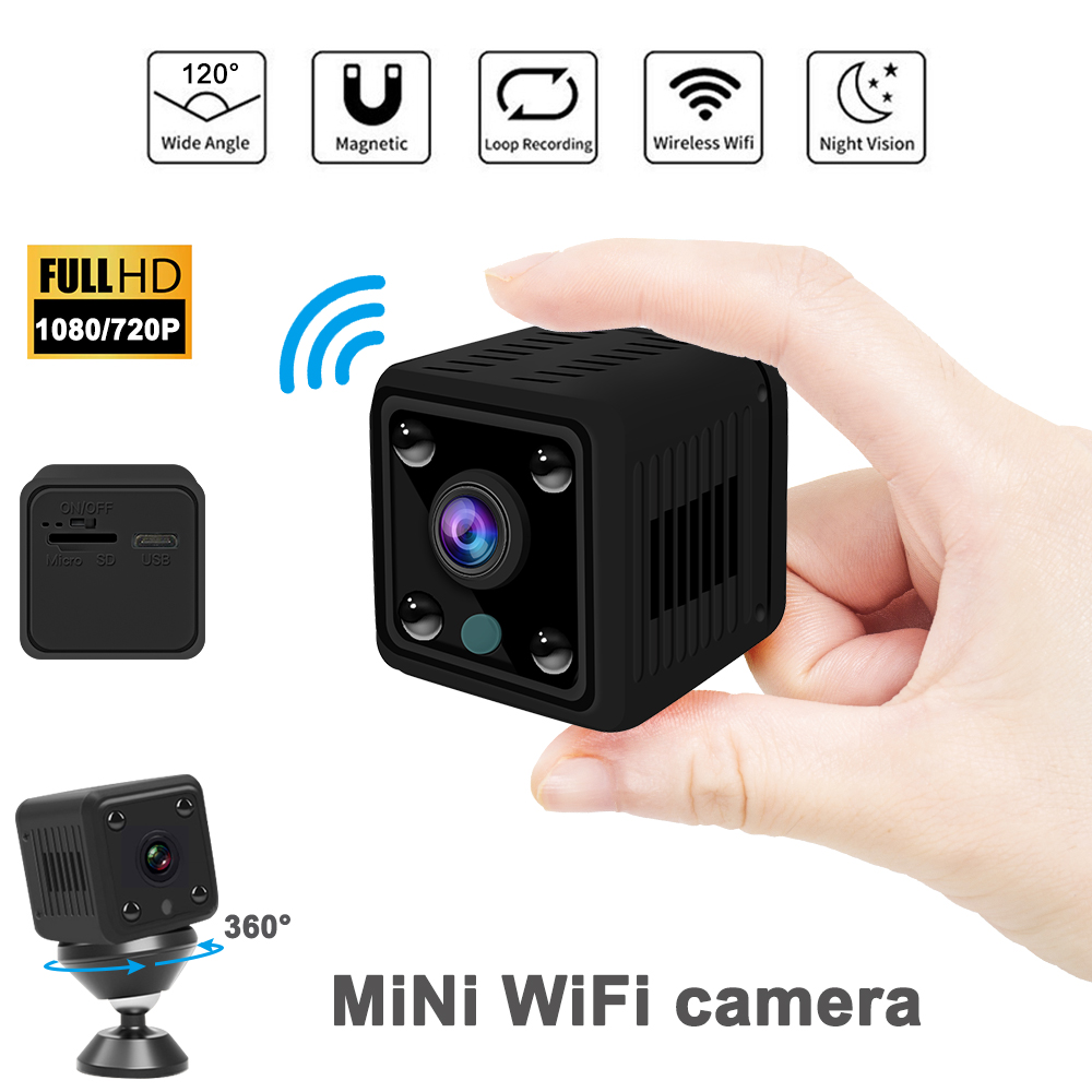 720P/1080P  Mini Camera Wifi Night Vision  Room Security Micro Camera CCTV Motion Detection Video Recorder