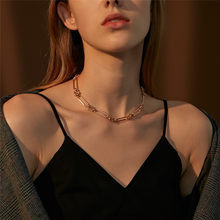 Modyle Punk Hip Hop Thick Short Choker Necklace Women Simple Gold Color Vintage Chunky Collar Necklace Female Jewelry Gifts