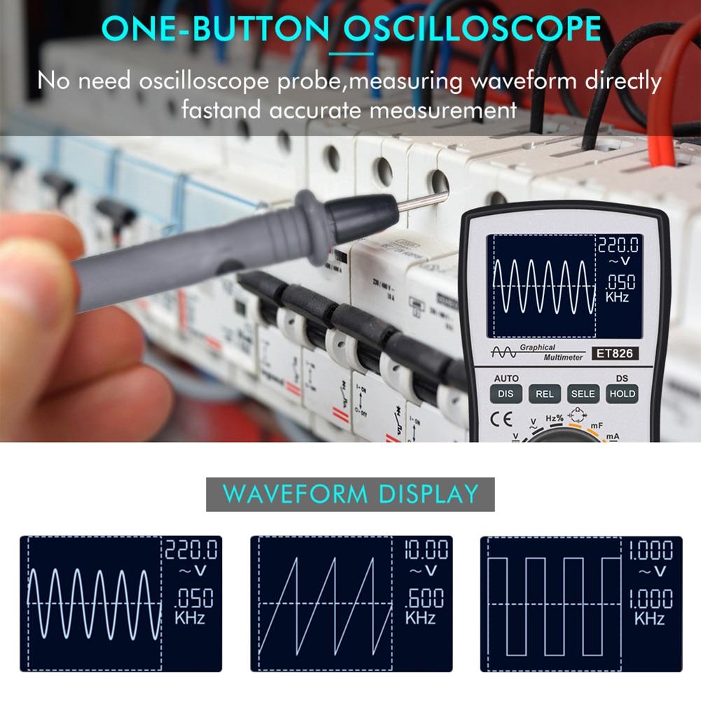 ac tensão medidor de corrente resistência capacitância testadores