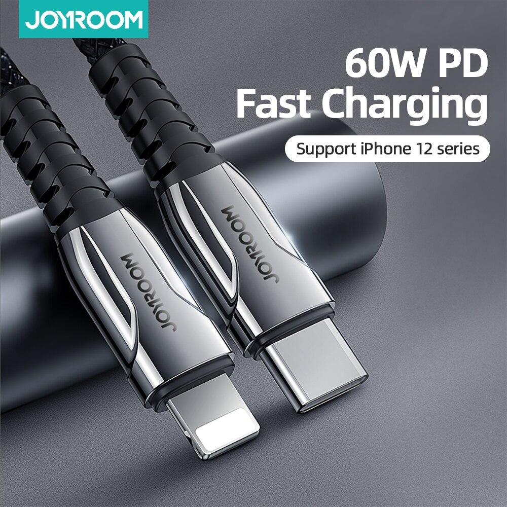 Joyroom 60W PD USB Type C câble pour iPhone 12 11 Pro Xs Max chargeur de charge rapide pour MacBook iPad type-c USBC câble de données