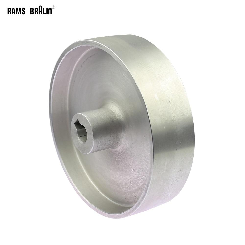 200*54*24/19mm Fully Aluminum Belt Grinder Running Wheel Roller Driving Wheel With 10*6mm Key Slot
