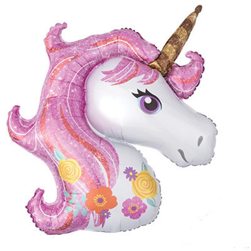 Cartoon Mini Horse Unicorn Aluminum Film Balloon Birthday Party Decoration Unicorn Cross Border For Wholesale