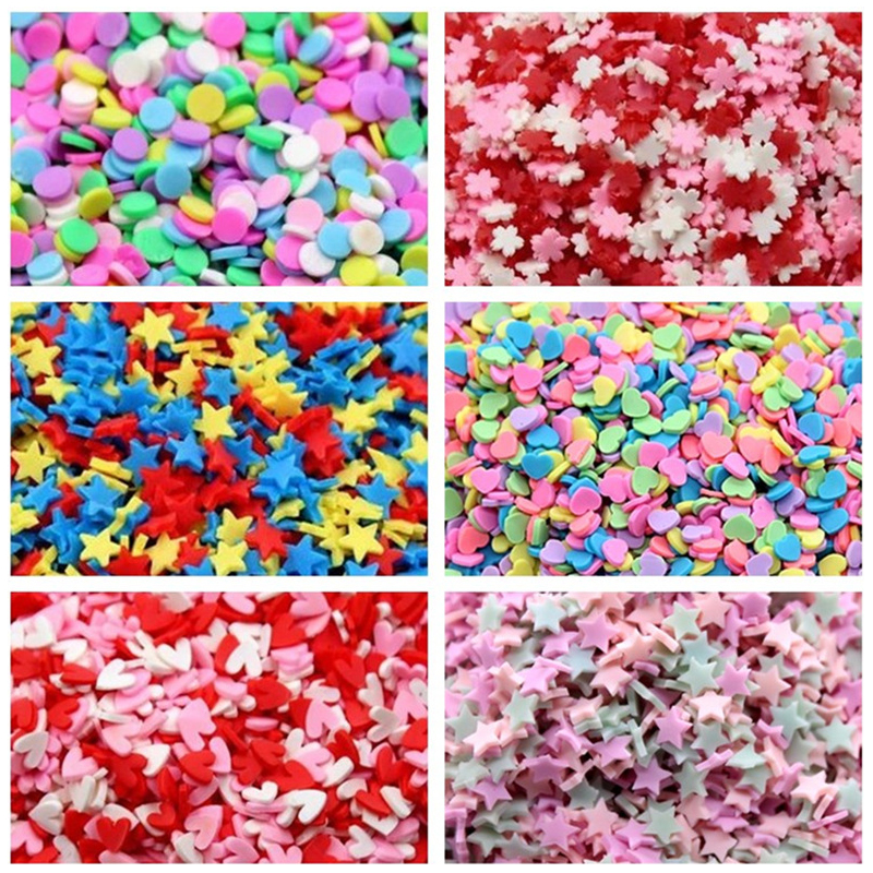 20g Fake Sprinkles Decoration For Slime Filler DIY Slime Supplie Simulation Candy Cake Dessert Accessories Toy For Children Gift