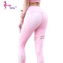 SEXYWG Yoga Legging Sports Pant Gold Print Fitness Tight  Slim Waist Trainer Body Shaper Sexy Butt Lifter Trouser Slimming Pants цена
