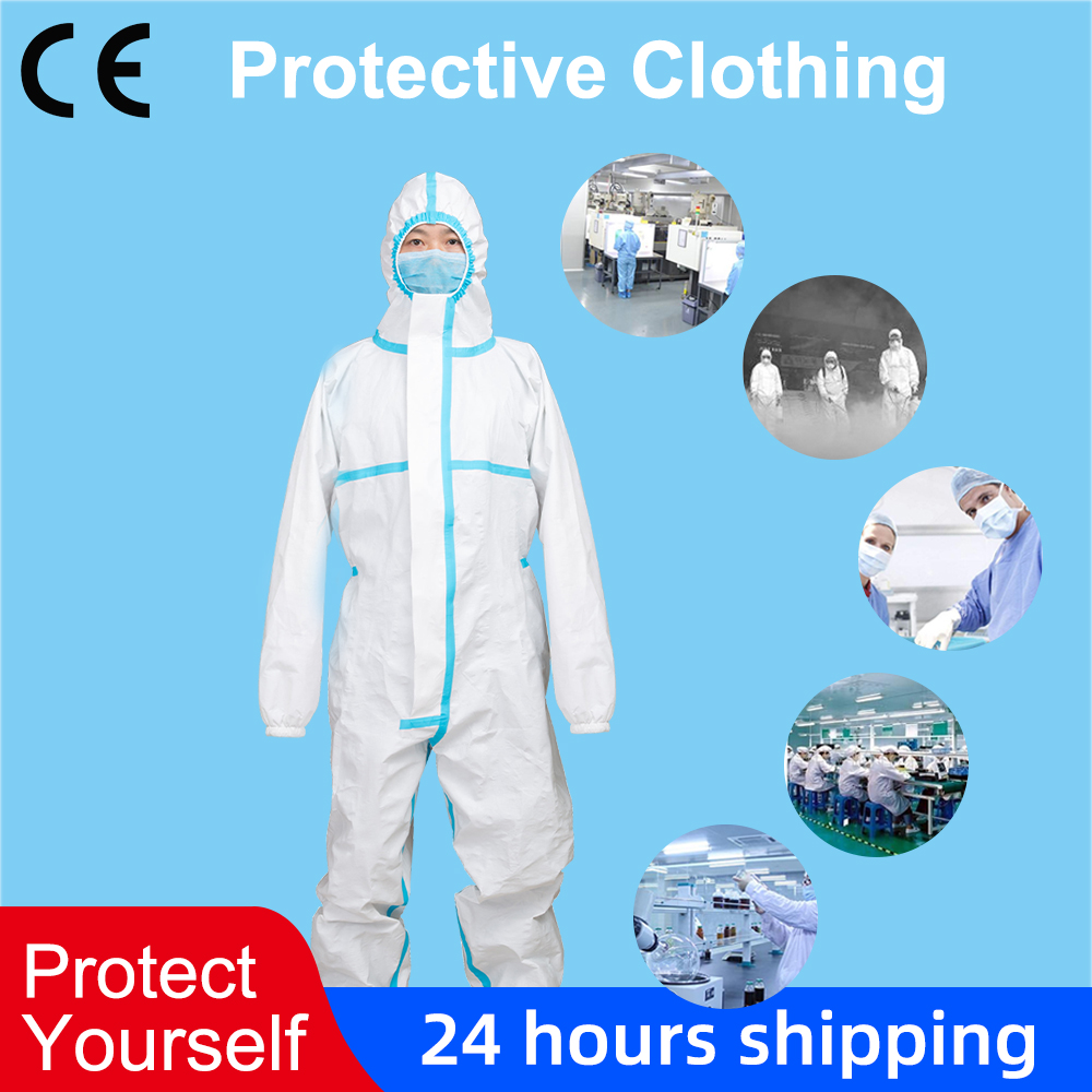 Disposable Protective Clothing Dustproof Anti Static Clothing Coverall Personal Isolation Suit Protective Equipment Coveralls