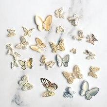 10 pçs/lote luxo borboleta asa zircão cristais strass unhas jóias decoração da arte do prego acessórios encantos suprimentos