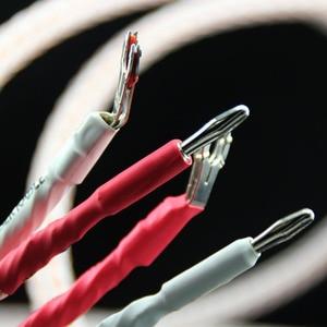 Image 2 - XSSH audio Hallo end DIY HIFI Silber Überzogene Y form spaten zu banana stecker 12TC 24 core lautsprecher kabel kabel Draht