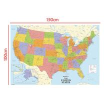 150x100cm Non-woven Map of United States with Details For Beginner And Education