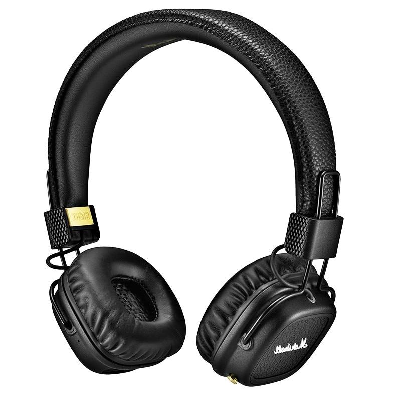 Major II Headphone Wired 3.5mm For Marshall Headphones Major Ii Headsets Gamer Earphones Black And Brown Good Quality אוזניות