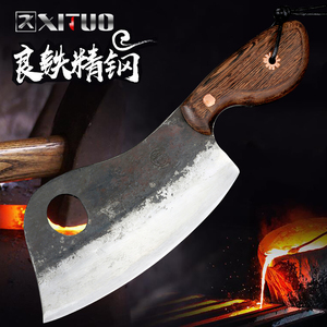 Image 5 - XITUO Full Tang Handmade Chopping Cleaver Butcher Knife High Carbon Clad Steel Kitchen Chef Knife Japanese Santoku Tool Hot New
