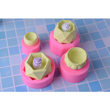 Diamond Shaped Silicone Mold Flower Pot Vase Concrete Cement Cake Baking Tools Mold DIY Clay Ashtray Candle Holder Mould modern simple home decorations flower pot silicone cement mold desktop ornament clay molds diy concrete mould