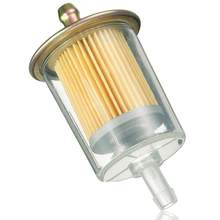 Elemento de filtro de gasolina para motocicleta, filtro para gasolina en línea 3/8, accesorios para Tractor, Color blanco