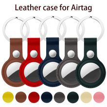 High quality Leather Case For Apple Airtags Protective cover For Apple Locator Tracker Anti lost Device Keychain Protect Sleeve