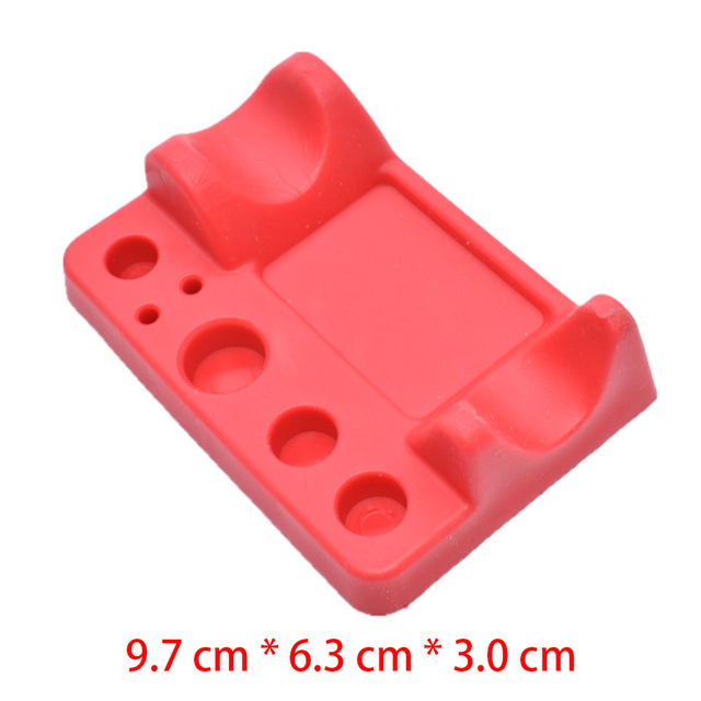 Tool Mat Silicone Permanent Pigment Makeup Microblading Durable Ink Cup Hold Accessories Tattoo Pen Stand Red Non Toxic Rack 5