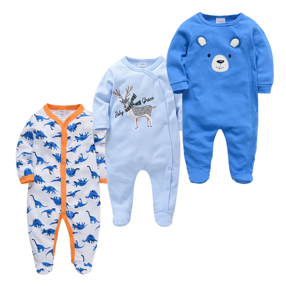 3pcs Roupas bebe de Baby Girl Boy Pijamas bebe fille Cotton Breathable Soft ropa bebe Newborn Sleepers Baby Pjiamas