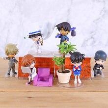 Detective Conan Cijfers Edogawa Konan Haibara Kaitou Kiddo Ai Hattori Heiji Furuya Rei Akai Shuuichi Desktop Speelgoed 6 Stks/set
