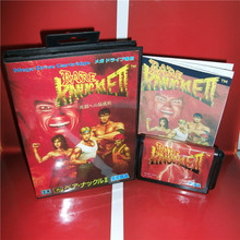 MD games card   Bare Knuckle 2 Japan Cover with Box and Manual for MD MegaDrive Genesis Video Game Console 16 bit MD card
