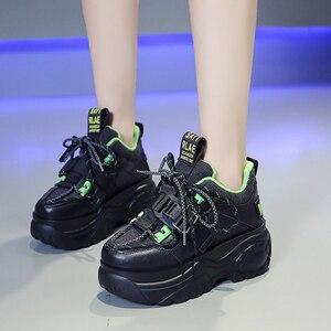 Image 4 - Женские кроссовки на платформе; Зимняя Теплая Обувь На Шнуровке; Модная повседневная обувь с высоким берцем; Женские кроссовки на толстой подошве; Deportivas Mujer