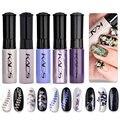 5 шт./компл. стемпинг ногтей покрытие & лак для ногтей цветной печати масляной 7 мл пластиковая бутылка для ногтей лак для ногтей украшение