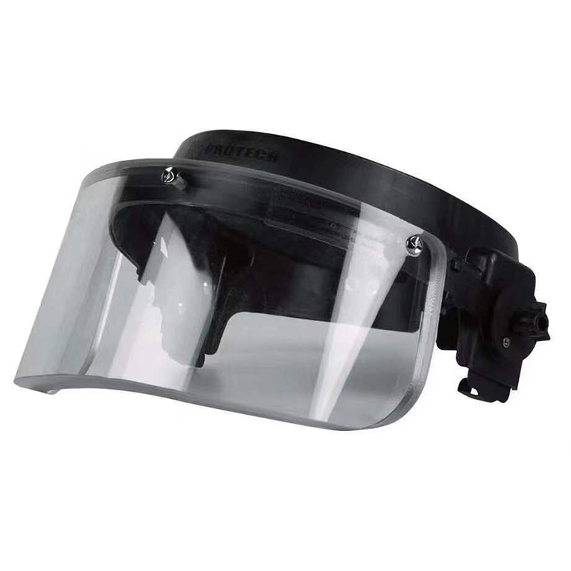 NIJ IIIA Face Shield Military Bulletproof Helmet Visor For PASGT, MICH, FAST Ballistic Helmet